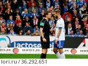 Sie hatten etwas miteinander zu besprechen: Schiedsrichter, Referee... Стоковое фото, фотограф Zoonar.com/Joachim Hahne / age Fotostock / Фотобанк Лори