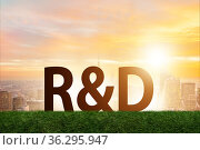 Research and development concept with letters. Стоковое фото, фотограф Elnur / Фотобанк Лори
