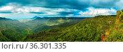 Grüne Schluchten im Black River Gorges Nationalpark in Mauritius,... Стоковое фото, фотограф Zoonar.com/Dirk Rueter / easy Fotostock / Фотобанк Лори