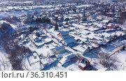 Top view of the Epiphany Church in the city of Venev. Russia. Стоковое видео, видеограф Яков Филимонов / Фотобанк Лори