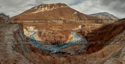 Argun Canyon in Chechnya mountains