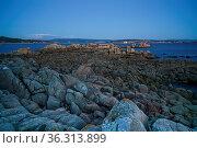 Sunset on the beautiful landscape of Galicia, coastline close to O... Стоковое фото, фотограф Zoonar.com/Alexander Ludwig / easy Fotostock / Фотобанк Лори