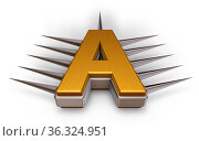 Der buchstabe a mit stacheln - 3d illustration. Стоковое фото, фотограф Zoonar.com/jörg röse-oberreich / easy Fotostock / Фотобанк Лори
