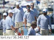 King Felipe VI of Spain during the 39th Copa del Rey Mapfre Sailing... Редакционное фото, фотограф ©MANUEL CEDRON / age Fotostock / Фотобанк Лори