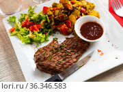 Fried beef with vegetables. Стоковое фото, фотограф Яков Филимонов / Фотобанк Лори
