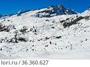 Weite Pisten im Skigebiet Aletscharena, Bettmeralp, Wallis, Schweiz... Стоковое фото, фотограф Zoonar.com/Pant / easy Fotostock / Фотобанк Лори