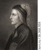 Durante degli Alighieri, aka Dante Alighieri or simply Dante, 1265... Стоковое фото, фотограф Classic Vision / age Fotostock / Фотобанк Лори