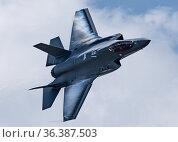 ACC, F35A, F35DemoTeam, F35FET, USAF, Maj, Kristin, Wolfe, F-35A, ... Редакционное фото, фотограф Public Domain / age Fotostock / Фотобанк Лори