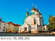Alexander Nevsky Cathedral, An Orthodox Cathedral Church In The Tallinn... Стоковое фото, фотограф Ryhor Bruyeu / easy Fotostock / Фотобанк Лори