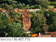 Vilnius, Lithuania. View Of Roman Catholic Church Of St. Anne In Old... Стоковое фото, фотограф Ryhor Bruyeu / easy Fotostock / Фотобанк Лори