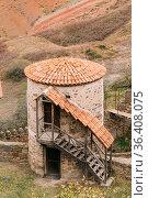 Sagarejo Municipality, Kakheti Region, Georgia. Old Tower In Ancient... Стоковое фото, фотограф Ryhor Bruyeu / easy Fotostock / Фотобанк Лори