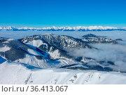 Ski resort Jasna. Winter Slovakia. Panoramic view from the top of... Стоковое фото, фотограф Zoonar.com/Mikhail Pavlov / easy Fotostock / Фотобанк Лори
