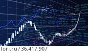 Image of stock market display with stock market tickers and graphs 4k. Стоковое фото, агентство Wavebreak Media / Фотобанк Лори