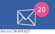 Digital envelope and numbers 4k. Стоковое фото, агентство Wavebreak Media / Фотобанк Лори