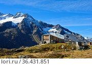 Sewenhütte vom Schweizer Alpen Club SAC, Kanton Uri, Schweiz / Mountain... Стоковое фото, фотограф Zoonar.com/Pant / easy Fotostock / Фотобанк Лори