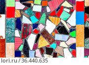 Abstract colorful mosaic grunge background of broken tiles. Стоковое фото, фотограф Zoonar.com/Alexander Blinov / easy Fotostock / Фотобанк Лори