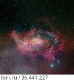 Outer space. Elements of this image furnished by NASA. Стоковое фото, фотограф Zoonar.com/Irina Dmitrienko / easy Fotostock / Фотобанк Лори