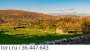 Yorkshire Dales landscape in the Dent Dale near Gawthrop, Cumbria... Стоковое фото, фотограф Zoonar.com/Bernd Brueggemann / easy Fotostock / Фотобанк Лори