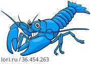 Cartoon illustration of funny yabby crayfish animal character. Стоковое фото, фотограф Zoonar.com/Igor Zakowski / easy Fotostock / Фотобанк Лори