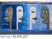 Mural paint of Mary Mackay entitled Tolerance. Berlin, Berlin-Brandenburg... Стоковое фото, фотограф Francesco Palermo / age Fotostock / Фотобанк Лори