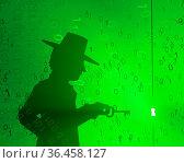 Virtual digits abstract 3d illustration, shadow figure with key, horizontal... Стоковое фото, фотограф Zoonar.com/Viktors Ignatenko / easy Fotostock / Фотобанк Лори
