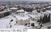 Top view of the Holy Trinity Convent. Penza city. Russia. Редакционное видео, видеограф Яков Филимонов / Фотобанк Лори