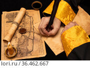 Ancient paper scrolls. Стоковое фото, фотограф Andrey Iudin / Фотобанк Лори