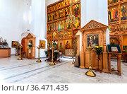 Veliky Novgorod, Russia - August 23, 2019: Russian orthodox church... Стоковое фото, фотограф Zoonar.com/Alexander Blinov / easy Fotostock / Фотобанк Лори