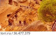 David Gareji or Garedja cave monastery in Georgia, Kakheti region... Стоковое фото, фотограф Zoonar.com/Nataliya_Nazarova{} / easy Fotostock / Фотобанк Лори