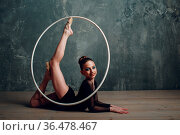 Young girl professional gymnast woman dance rhythmic gymnastics with... Стоковое фото, фотограф Zoonar.com/Max / easy Fotostock / Фотобанк Лори
