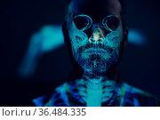 Skull portrait skeleton of adult man in halloween. Стоковое фото, фотограф Zoonar.com/Max / easy Fotostock / Фотобанк Лори
