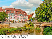 Historische Stadtmitte Donaueschingen. Стоковое фото, фотограф Zoonar.com/Falke / easy Fotostock / Фотобанк Лори