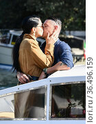 Adriana Lima with fiance Andre Lemmers at the 78th Venice Film Festival... Редакционное фото, фотограф Maria Laura Antonelli / AGF/Maria Laura Antonelli / age Fotostock / Фотобанк Лори