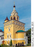 Church of the Savior in the Annunciation Monastery, Kirzhach, Russia. Стоковое фото, фотограф Zoonar.com/Boris Breytman / easy Fotostock / Фотобанк Лори