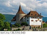 Schloss Erlach, Gemeinde Erlach, Kanton Bern, Schweiz / Erlach Castle... Стоковое фото, фотограф Zoonar.com/Pant / easy Fotostock / Фотобанк Лори