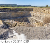 Landscape around a stone pit with roads in Southern Germany. Стоковое фото, фотограф Zoonar.com/Achim Prill / easy Fotostock / Фотобанк Лори