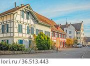 Rheinau Schweiz, Kanton Zürich, historische Burg der Grafen von Waldkirch... Стоковое фото, фотограф Zoonar.com/Falke / easy Fotostock / Фотобанк Лори