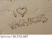 Vacancies, urlaub, ferien, , spanien, sand, strand, sandstrand, schrift... Стоковое фото, фотограф Zoonar.com/Volker Rauch / easy Fotostock / Фотобанк Лори
