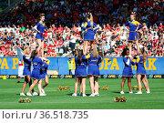 Tänzerinnen des Europapark Baletts beim Fussball: Testspiel - SC ... Стоковое фото, фотограф Zoonar.com/Joachim Hahne / age Fotostock / Фотобанк Лори