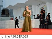 Vittoria Puccini during the Red carpet at the 78th Venice Film Festival... Редакционное фото, фотограф Maria Laura Antonelli / AGF/Maria Laura Antonelli / age Fotostock / Фотобанк Лори