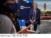European Commissioner for Economy Paolo Gentiloni during the Ambrosetti... Редакционное фото, фотограф Nicola Marfisi / AGF/Nicola Marfisi / AGF / age Fotostock / Фотобанк Лори