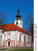 The parish church of Saint Nicholas, dating from the 17th century... Стоковое фото, фотограф Zoonar.com/Borislav Marinic / easy Fotostock / Фотобанк Лори