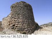 Oliete, Poblado Ibero del Cabezo de San Pedro de los Griegos. Andorra... Стоковое фото, фотограф J M Barres / age Fotostock / Фотобанк Лори