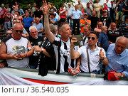 Fankurve / Fans / Fanblock / , SBFV-Pokal - 2015/16: Finale: SV Oberachern... Стоковое фото, фотограф Zoonar.com/Joachim Hahne / age Fotostock / Фотобанк Лори