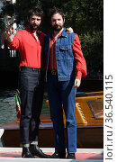 The directors Damiano and Fabio D'Innocenzo arrive at the Darsena... Редакционное фото, фотограф Maria Laura Antonelli / AGF/Maria Laura Antonelli / age Fotostock / Фотобанк Лори