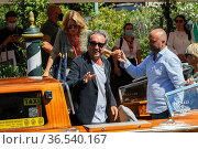 The director Paolo Sorrentino arrives at the Darsena of Hotel Excelsior... Редакционное фото, фотограф Maria Laura Antonelli / AGF/Maria Laura Antonelli / age Fotostock / Фотобанк Лори