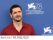 The director Gabriele Mainetti during the photocall at the 78th Venice... Редакционное фото, фотограф Maria Laura Antonelli / AGF/Maria Laura Antonelli / age Fotostock / Фотобанк Лори