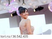 Ambra Angiolini during 'Freaks Out' red carpet during the 78th edition... Редакционное фото, фотограф AGF/Maria Laura Antonelli / age Fotostock / Фотобанк Лори