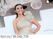La madrina Serena Rossi during 'Freaks Out' red carpet during the... Редакционное фото, фотограф AGF/Maria Laura Antonelli / age Fotostock / Фотобанк Лори