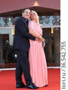 Claudio Santamaria, Francesca Barra during 'Freaks Out' red carpet... Редакционное фото, фотограф AGF/Maria Laura Antonelli / age Fotostock / Фотобанк Лори